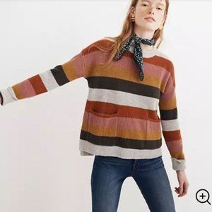 Madewell colorful striped sweater